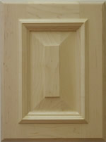 Belvadere wood cabinet door with applied moulding