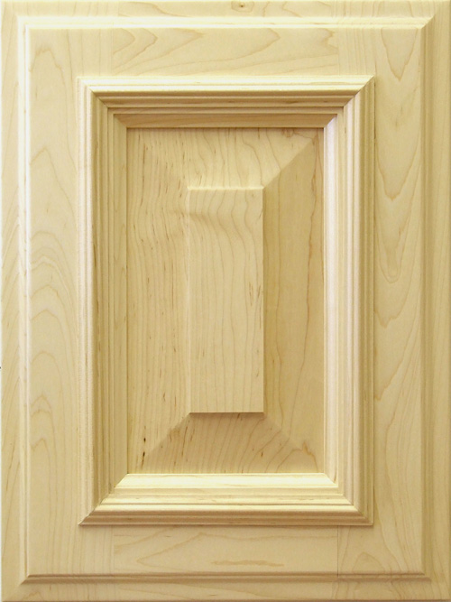 Allstyle Cabinet Doors: Cutaway of Allstyle's Burbank Cabinet Door featuring wide rails and applied mouldings