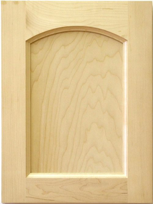 Theodore Roman Arch Cabinet Door with flat panel in Maple
