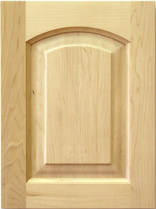 William roman arch kitchen cabinet door with raised panel for Arch kitchen cabinets