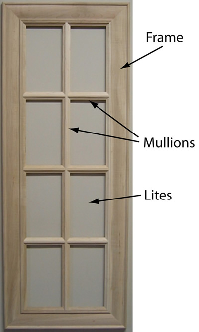 Mullion Doors Amp Burrows Cabinets Kitchen In Stained Knotty
