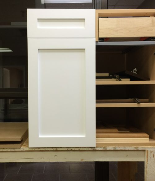 A shaker style cabinet door retrofit to an Akurum 30  base cabinet. & Custom IKEA Doors for retrofit or replacement on Sektion cabinets