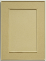 A flat panel MDF routed cabinet door
