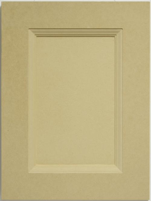 Gorham mdf one piece routed kitchen cabinet door for paint for Mdf painted cabinet doors