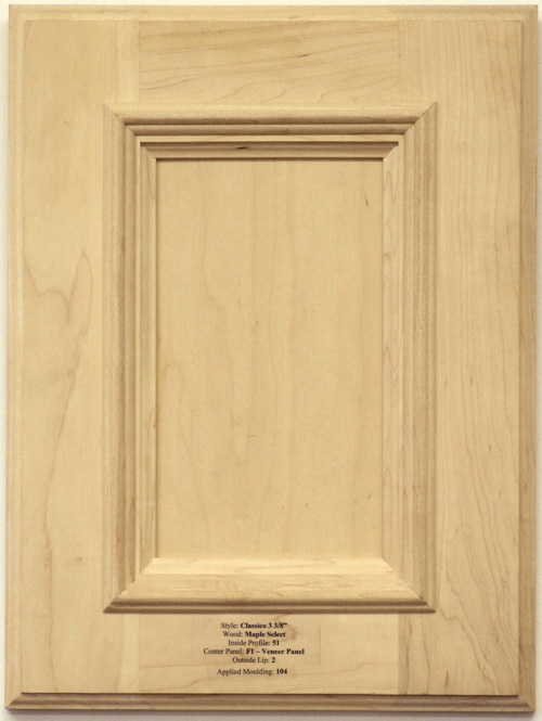 Osbourne cabinet Door with Applied Mouldings in maple