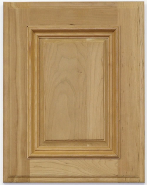 Farrier cabinet door with applied moulding in maple