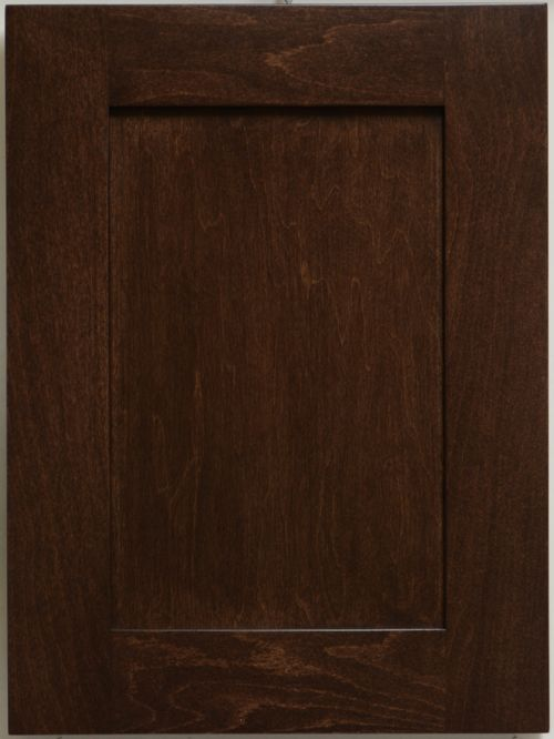 picture of door stained in Gunstock Walnut