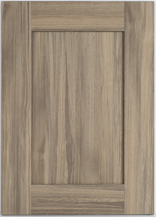 weathered chestnut laminate cabinet door front view
