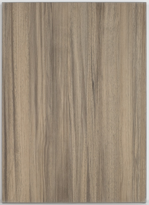 weathered chestnut laminate cabinet door back view